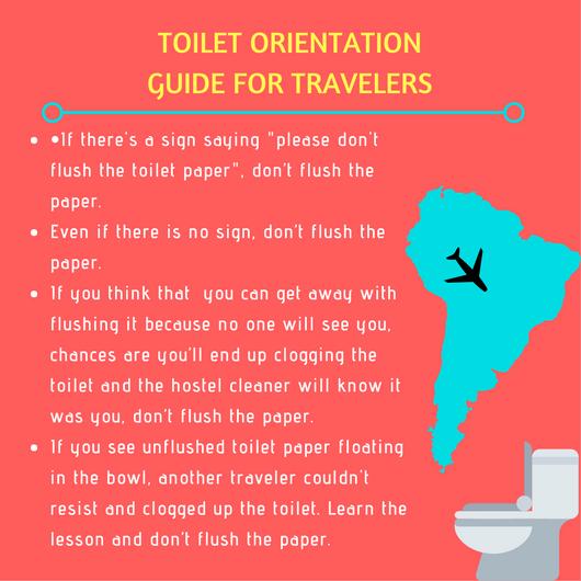 Toilet orientation guide